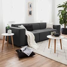 sofa kinx anthrazit strukturstoff modern