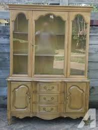 Solid Walnut Vintage Dining Room Set China Cabinet