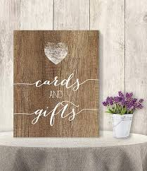 Cards And Gifts Wedding Gift Table Sign DIY Presents Rustic Wood