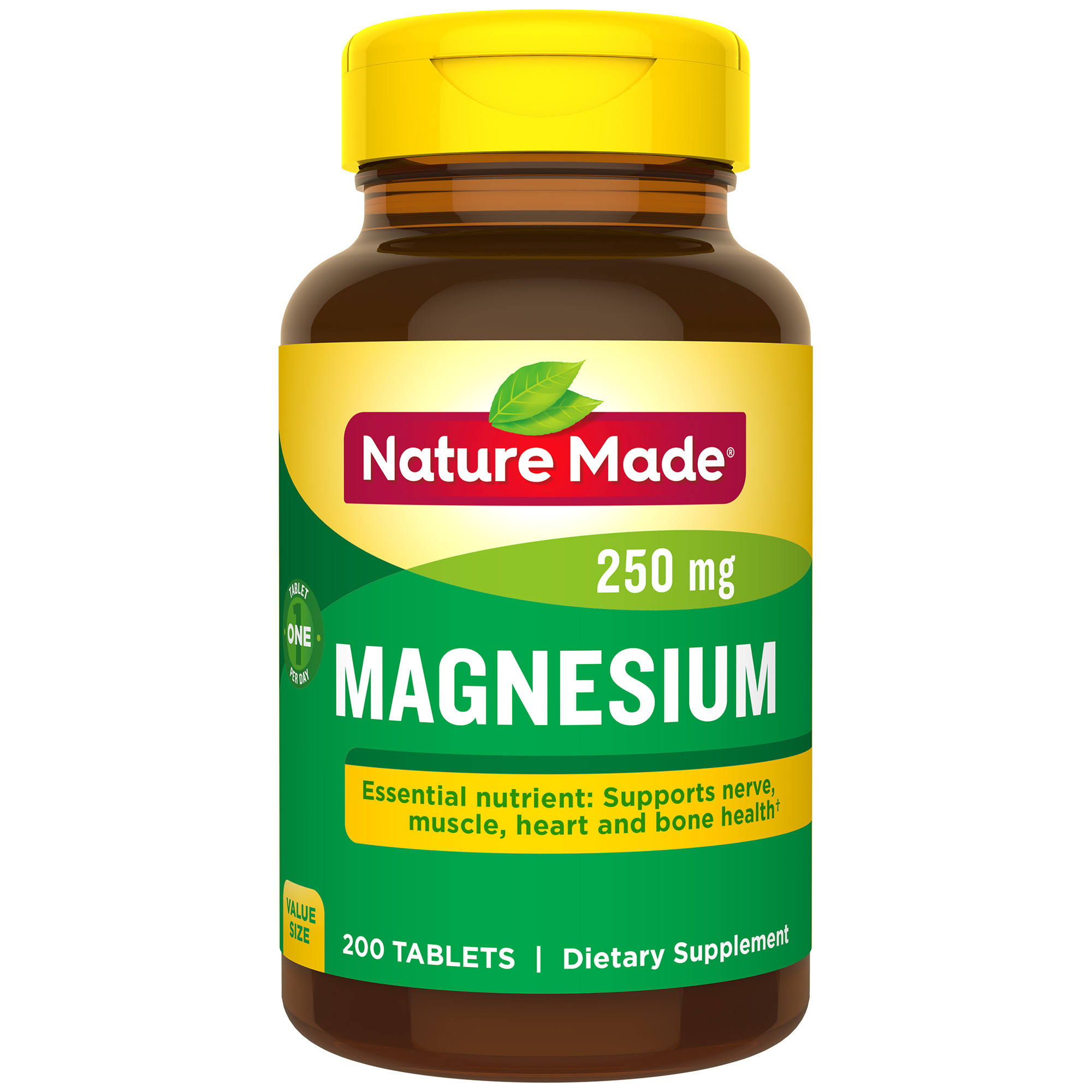 Nature Made Magnesium Supplement - 250mg, 200ct