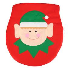 Christmas Red Bathroom Rugs by Christmas Decoration Elf Santa Toilet Seat Cover Bathroom Rug Xmas