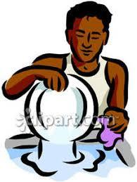 Men Clipart Washing Dish 5
