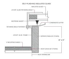Glass Roof Detail Self Flashing Insulated Skylight Dwg