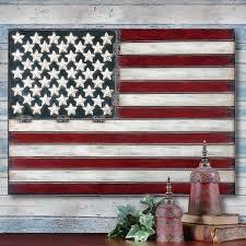 AMERICAN FLAG Folk Art METAL WALL ART PANEL Americana 3 FEET
