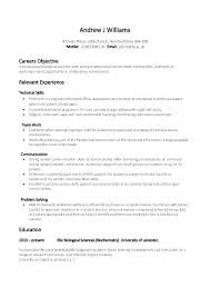 Examples Of Skills And Abilities For Resumes Example College Students With No Experience Best Student Resume