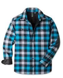 men u0027s buckhorn bonded flannel shirt