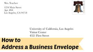 How to Address a Business Formal Letter Envelope