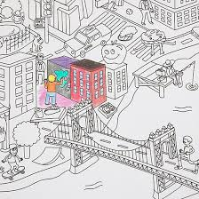 Giant NYC Coloring Paper Roll