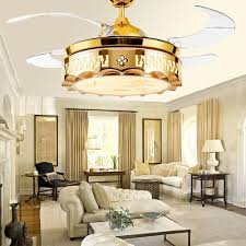 Get Quotations Huston Fan 42 Inch Gold Indoor Modern Chandelier Ceiling With Remote Living Room