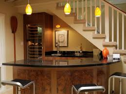 Countertops Backsplash Cone Yellow Pendant Light Kitchen With Wooden Bar Rustic Lights