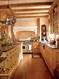 Chef Man Kitchen Theme by Rustic Kitchen Design With Beam Ceiling Wooden Kitchen Island