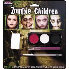 Walmart Halloween Contacts No Prescription by Zombie Kids Makeup Kit Children Halloween Accessory Walmart Com