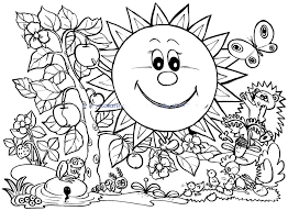 Spring Coloring Page Worksheets Welcome Pages Printable Baby Animal