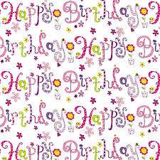 Wrapping Paper Gift Bag Color Offset Metallized Birthday Wrapper Design Pattern