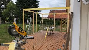 faire une pergola en bois pour terrasse pergola murale