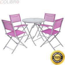 Amazon.com: COLIBROX 5 PCS Bistro Set Garden Folding Chairs ... Fniture Lifetime Contemporary Costco Folding Chair For Ideas Walmart Lawn Chairs Relax Outside With A Drink In Mesmerizing Tables Cheap Patio Set Find French Bistro And Lily Bamboo Riviera Folding Chairs Outdoor Rohelpco Mainstays Steel Black Tips Perfect Target Any Space Within The Product Recall 5 Piece Card Table Sold At Gorgeous At Amusing Multicolors