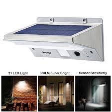 solar wall lights opernee 21 led bright outdoor solar lights