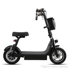 Electric Scooter Mini Two Round Folding Bike Lithium Battery Bicycle Adult Pedal 12 Inch Small Walking Online With