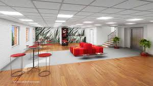 Commercial Office Space Architectural Interior Coffee Area