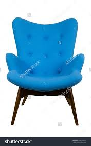 Stylish And Peaceful Blue Chair Modern Scandinavian Style Stock Photo 106378355