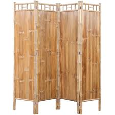 bambus raumteiler paravent 4 teilig gitoparts