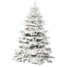 3ft Flocked Alaskan Pine Artificial Christmas Tree Slim With