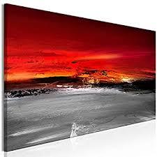 wandbilder abstrakt leinwand bilder grau rot wohnzimmer