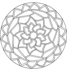 Click To See Printable Version Of Celtic Knot Mandala With Flower Coloring Page