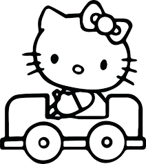 Online Hello Kitty Princess Coloring Pages