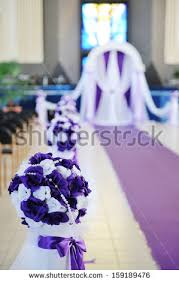 Wedding Arch And Flowers In Church