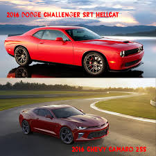 2016 Muscle Comparison Challenger SRT Hellcat Chevy Camaro 2SS