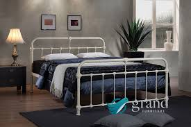 Amazon Uk King Size Headboards by Mandy Double Metal Bed Frame Cream Hospital Victorian Style Small