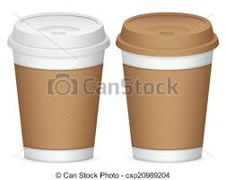 Paper Coffee Cups Cup Set On A White Background