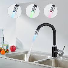 auralum led küchen wasserhahn schwarz armatur real de