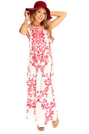red white sleeveless floral print maxi dress