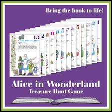 Printable Halloween Scavenger Hunt Clues by Alice In Wonderland Treasure Hunt Game