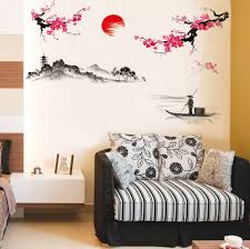 Ebay Wall Decoration Stickers by Aliexpress Com Buy 120 150cm Diy Chinese Style Red Plum Flower