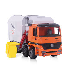 Garbage Truck, Sanitation Plastic Truck Toy Model With Trashcans, 14 ...