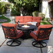 Outdoor Fire Pit Chairs Design And Ideas Hanover Summer Nights 5piece Patio Fire Pit Cversation Set With Amazoncom Summrnght5pc Zoranne 4 Chairs Livingroom Table With Outdoor Gas And Tables Sets Fniture Fresh Ding Shop Monaco 7piece Highding 6 Swivel Rockers And A The Greatroom Company Kenwood Linear Height Alinum Cheap Chair Beautiful Comet 8 Wicker Chat Tank Awesome Top 10 Envelor Oval Brown 7 Piece Poker Stunning
