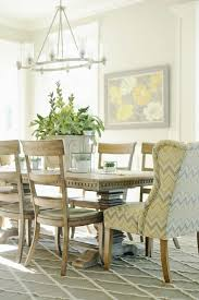 yellow and gray chair transitional dining room davies