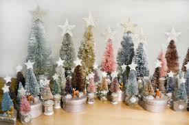 Christmas Tutorial 1 Hand Dyed Bottle Brush Trees