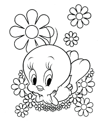 Baby Angry Birds Coloring Pages Hummingbird Flowers Tweety Bird Full Size