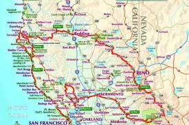 Maps Cities Towns Full Color Portland Oregon California Map Of And Simple Road With