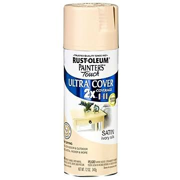 Rust-Oleum 249073 Painter's Touch Multi Purpose Spray Paint - 12oz, Satin Ivory Silk