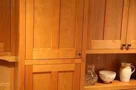 Detail Of Contemporary Shaker Style Cabinet In Cherry Photo By Mary New