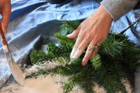 Christmas Tree Flocking Spray by The Yellow Cape Cod Tutorial Flocking With Paint U0026 Glitter