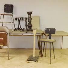 1940s Kitchen Table Stools Iron Smoking Stand Warehouse Chic EBTH