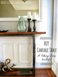 DIY Console Table - Pottery Barn Knock Off - East Coast Creative Pb Inspired Trunk Bedside Table Makeover Girl In The Garage Darby Entryway Bench Pottery Barn Samantha Diy 3d Wall Art This Is Our Bliss Best 25 Barn Inspired Ideas On Pinterest Woman Real Lifethe Of Everyday Kitchen Island By Diy Kitchen Island Coffe Fresh Coffee Home Decoration Clock Noel Sign Knock Off Christmas Mirror Knockoff Project