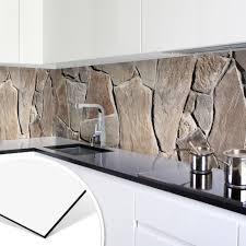 dekoration alu dibond silber spritzschutz küche deko bild