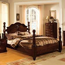 Amazon Tuscan Colonial Style Dark Pine Eastern King Size Bed